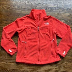 North face lightweight fleece full zip sweatshirt